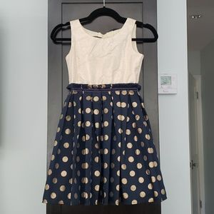 Gorgeous girls Navy and Goldnformal dress
